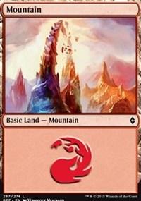 Mountain (267) card from Battle for Zendikar