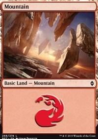 Mountain (268) card from Battle for Zendikar
