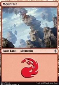 Mountain (269) card from Battle for Zendikar