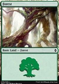 Forest (270) card from Battle for Zendikar