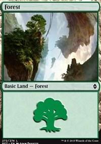 Forest (272) card from Battle for Zendikar