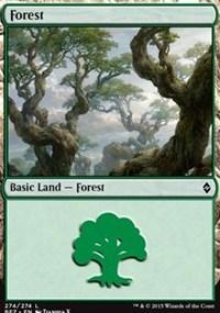 Forest (274) card from Battle for Zendikar
