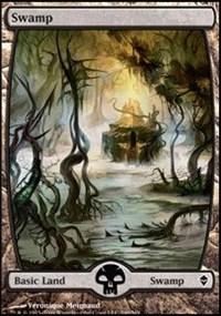 Swamp (240) - Full Art card from Zendikar