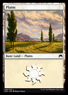 Plains (256) card from Magic Origins