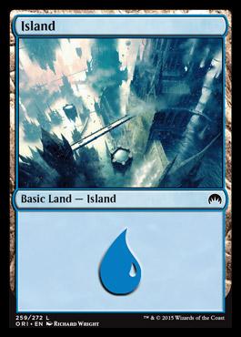 Island (259) card from Magic Origins