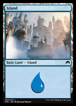 Island (260) card from Magic Origins