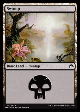 Swamp (262) card from Magic Origins