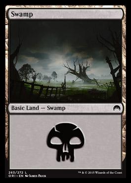 Swamp (263) card from Magic Origins