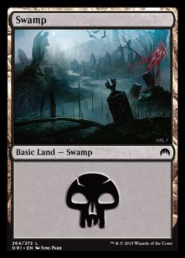 Swamp (264) card from Magic Origins