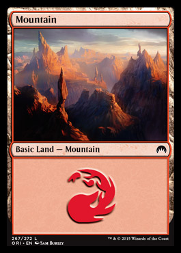 Mountain (267) card from Magic Origins