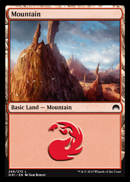 Mountain (268) card from Magic Origins