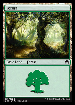 Forest (270) card from Magic Origins