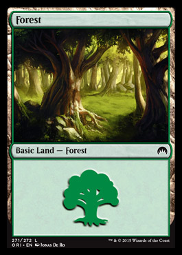 Forest (271) card from Magic Origins
