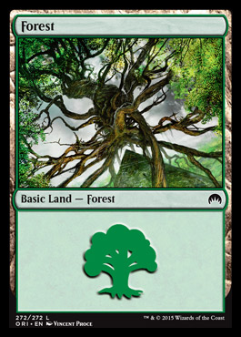 Forest (272) card from Magic Origins