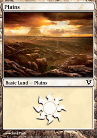 Plains (231) card from Avacyn Restored