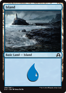 Island (286) card from Shadows over Innistrad