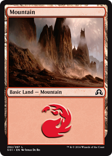 Mountain (292) card from Shadows over Innistrad