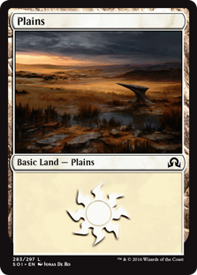 Plains (283) card from Shadows over Innistrad