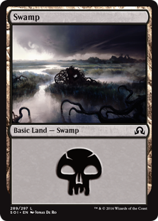 Swamp (289) card from Shadows over Innistrad