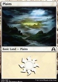Plains (285) card from Shadows over Innistrad