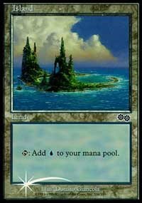 Island (1999) card from Arena Promos
