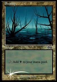 Swamp (1999) card from Arena Promos