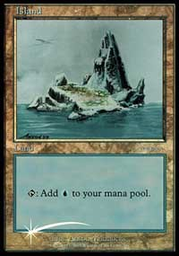 Island (2001) card from Arena Promos