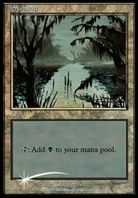Swamp (2001) card from Arena Promos