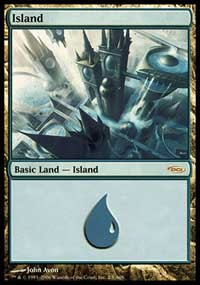 Island (2006) card from Arena Promos