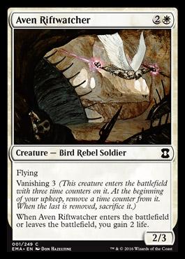 Aven Riftwatcher card from Eternal Masters