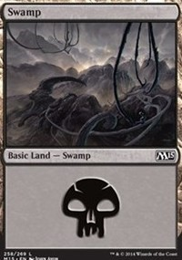 Swamp (258) card from Magic 2015 Core Set
