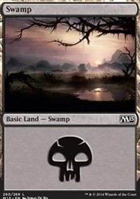 Swamp (260) card from Magic 2015 Core Set