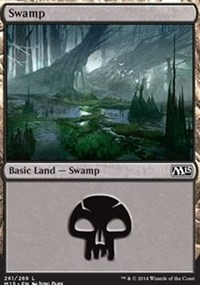 Swamp (261) card from Magic 2015 Core Set