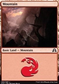 Mountain (293) card from Shadows over Innistrad