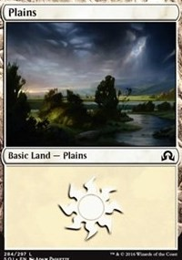 Plains (284) card from Shadows over Innistrad