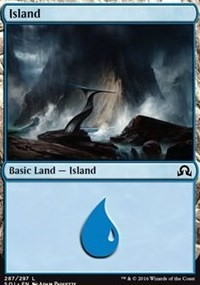 Island (287) card from Shadows over Innistrad