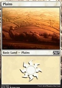 Plains (250) card from Magic 2015 Core Set