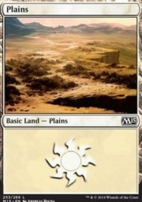 Plains (253) card from Magic 2015 Core Set