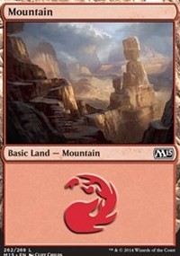 Mountain (262) card from Magic 2015 Core Set