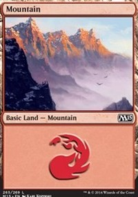Mountain (265) card from Magic 2015 Core Set
