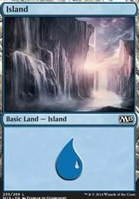 Island (255) card from Magic 2015 Core Set