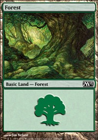 Forest (249) card from Magic 2013