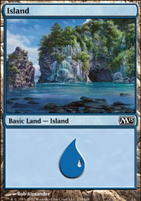 Island (234) card from Magic 2013