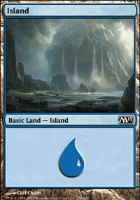 Island (236) card from Magic 2013