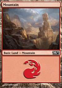 Mountain (242) card from Magic 2013
