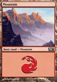 Mountain (244) card from Magic 2013