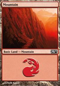 Mountain (245) card from Magic 2013