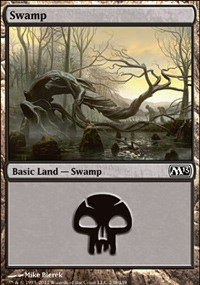 Swamp (238) card from Magic 2013