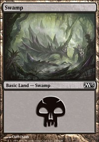 Swamp (240) card from Magic 2013