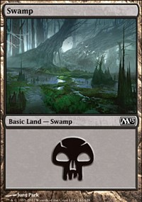 Swamp (241) card from Magic 2013